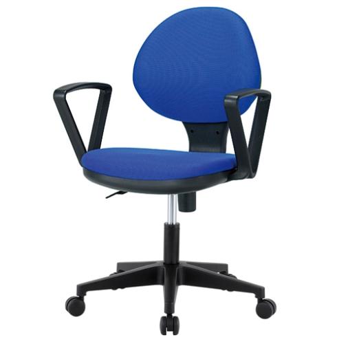 肘付回転椅子(布張)